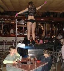 Husband Strips Wife In Bar