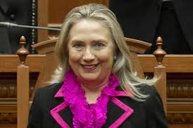 Hillary in pink