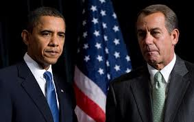 Obama and Boehner two