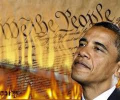 Obama burns