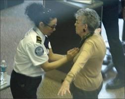 old lady TSA