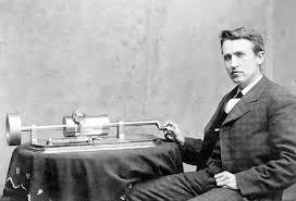 Tom Edison and gramaphone