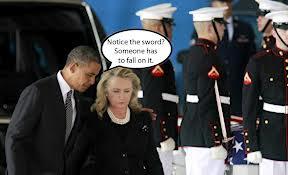 Obama and Hillary sword