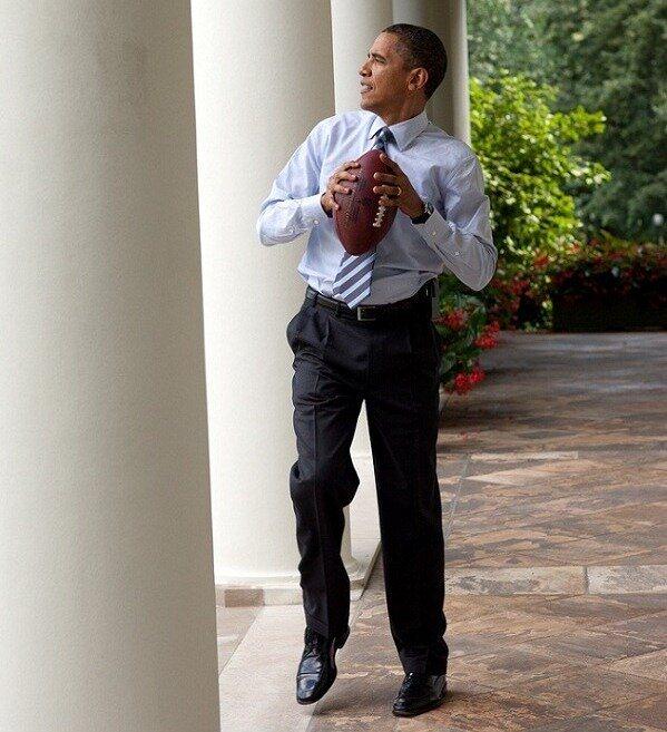 Obama & football