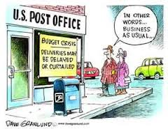 Post office broke