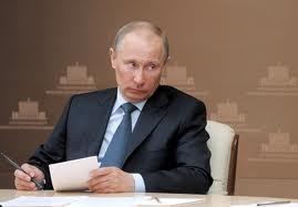 Putin looks