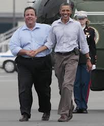 Chris Christie & Obama two