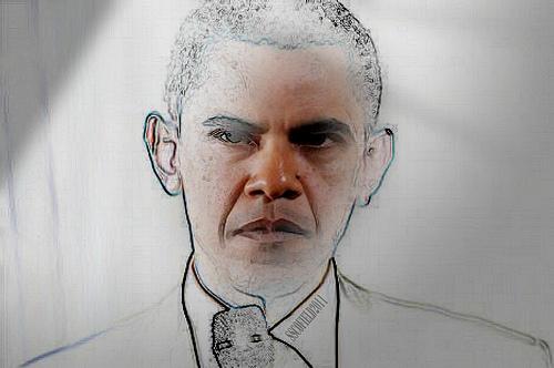 Obama in white