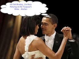 Obama partying