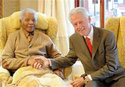 Mandela and Bill Clinton