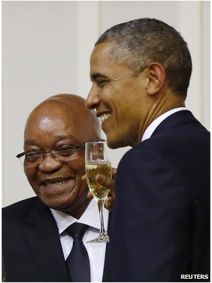 Obama and Jacob Zuma