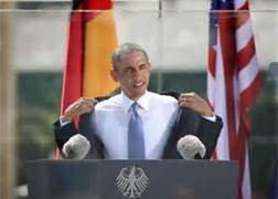 Obama at Berlin Wall