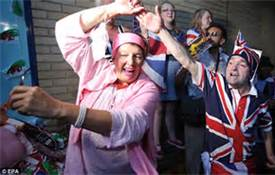 Brits celebrating
