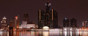 Detroit international river front