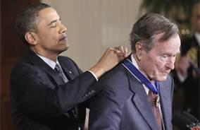 Obama & George H.