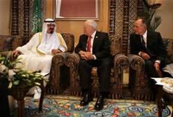 Saudi King and Cheny