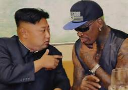 Dennis Rodman and Kim Jong