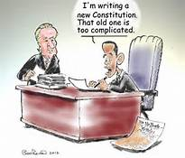 Obama cartoon about constitution