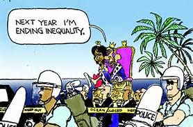 Obama cartoon on inequality