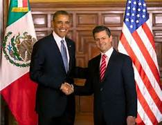 Obama in Mexico with Pena Nieto