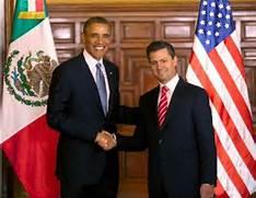 Obama in Mexico with Pena Nieto