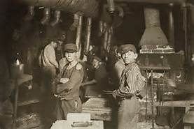 Kid working in factories