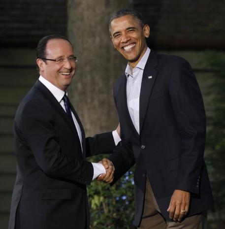 Obama and Francois Hollande