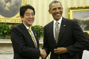 Obama and Japn Shinzo Abe