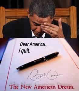 Obama I quit