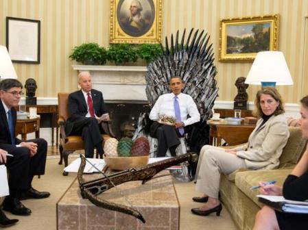 obama throne
