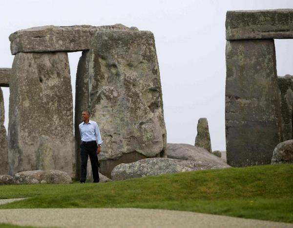 Obama among the stones