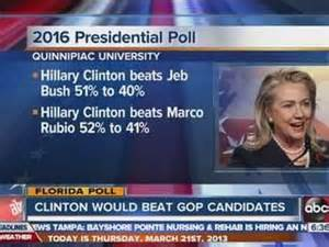 Hillary beats Jeb