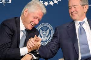 Bill Clinton and Geoge Bush