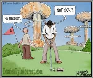Cartoon of golf