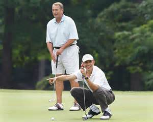 Obama and John playing golf