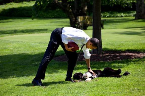 Obama at halftime