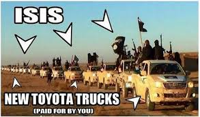 Isis with trucks