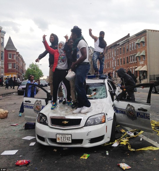 Baltimore protestors