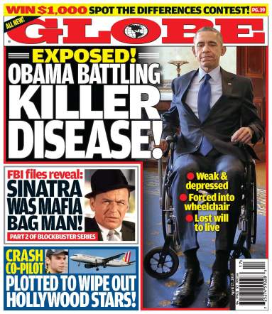Obama wheelchair globe