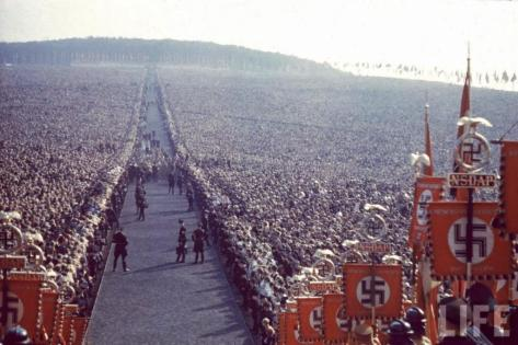 And you thought OBAMA was popular. Big party for Hitler.