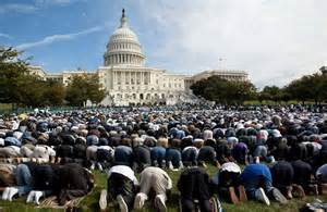 Muslim on white house lawn
