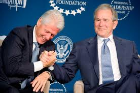 Bush and Clinton