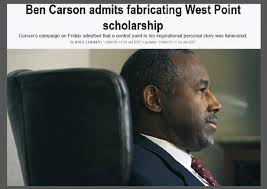 Ben Carson admits