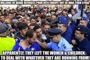 migrants running