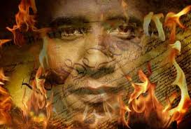 Obama in flames