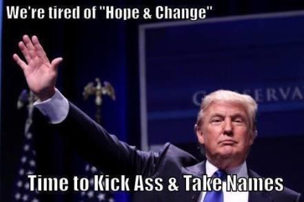 Trump kick ass