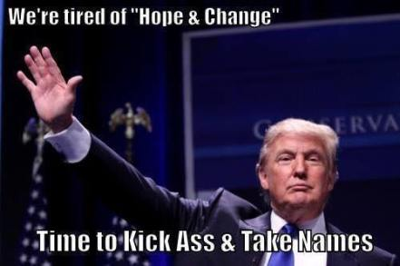 Trump kick ass