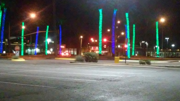 "The new ""Lights on the palm trees"" mall look."