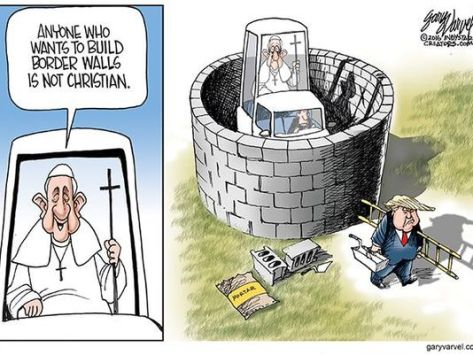 trump vs pope