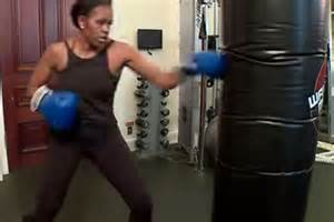 Michelle working out